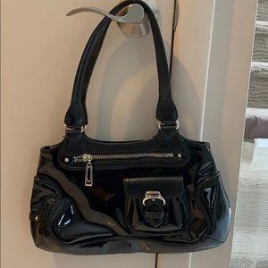 Cole Haan patent leather shoulder bag.